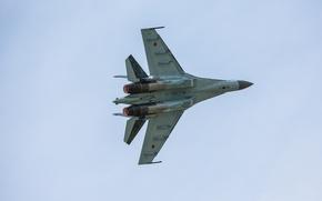 Картинка истребитель, Су-35, реактивный, многоцелевой, сверхманевренный