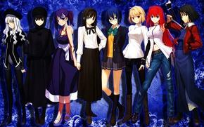 Картинка Anime, Fate/Stay Night, Girls, Kara no Kyoukai, Ryougi Shiki, Type-Moon, Caren Hortensia, Ciel, Aozaki Aoko, …