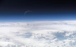 Картинка планета, Облака, атмосфера, Космос