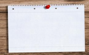 Картинка desktop, red, white, wood, note, computer, situations, rendering, paper, memorandum, reminder