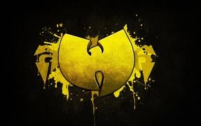 Картинка Logo, Yellow, Music, Hardcore Hip-Hop, Black, Wallpaper, Wu-Tang Clan