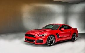 Картинка Mustang, Ford, мустанг, Red, форд, крсный, Roush, 2015, Stage 3