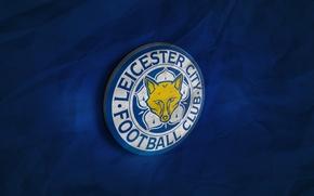 Картинка wallpaper, sport, football, Premier League, England, 3D logo, Leicester City