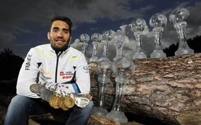 Картинка биатлон, медали, кубки, Martin Fourcade, сборная Франции