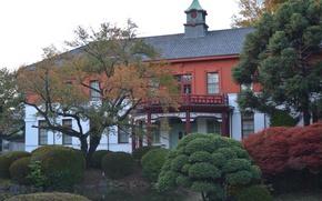 Картинка Осень, Япония, Japan, Autumn, Medical School, Медицинское училище