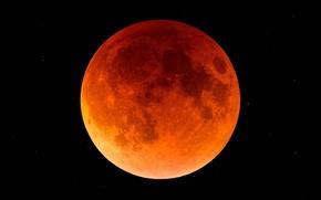 Картинка планета, спутник, Луна, затмение