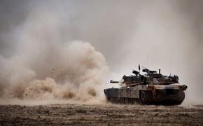 Картинка выстрел, танк, M1A1 Abrams