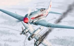 Обои победа, зима, за родину, Юнкерс, JU-88, МиГ-3