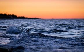 Картинка море, волны, вода, макро, природа, река, фон, океан, widescreen, обои, волна, вечер, wallpaper, sea, широкоформатные, …