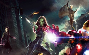 Картинка люди икс, железный человек, марвел, супергерои, стражи галактики