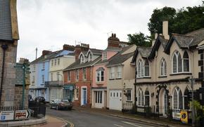 Картинка улица, дома, street, village, town, Шелдон, Shaldon