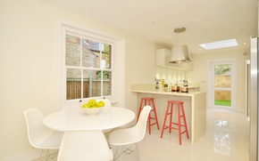 Обои комната, стиль, интерьер, дом, кухня, коттедж, дизайн
