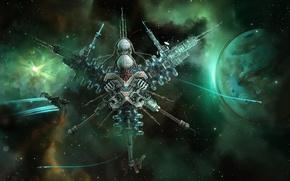 Картинка stars, planet, spaceships, starpoint gemini