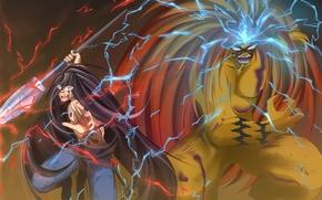 Картинка demon, fire, flame, game, tiger, anime, general, boy, energy, assassin, asian, warrior, manga, japanese, oriental, …