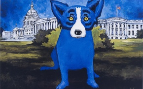 Картинка собака, blue, dog, rodrigue, george