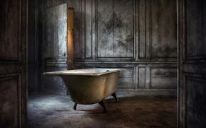 Картинка комната, дверь, ванна