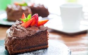 Обои пирожное, cake, десерт, сладкое, chocolate, sweet, dessert