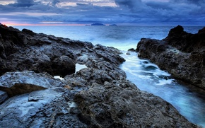 Картинка море, пейзаж, горы, природа