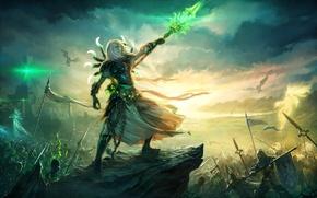 Обои полководец, Heroes of Might & Magic 6, некромант, нежить, Герои Меча и Магии 6, битва, ...