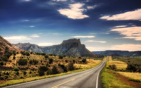 Обои гора, дорога, путь, горы, пейзажи