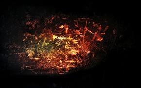 Картинка темнота, огонь, текстура