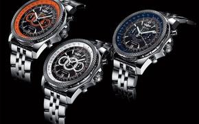 Картинка Часы, Watch, Breitling, Supersport, Breitling for Bentley, TRIO