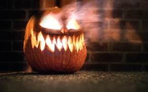 Картинка огонь, Halloween, тыква, horror, Pumpkin King