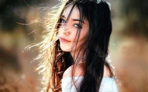 Картинка ветер, волосы, милая девушка, Andrea, Gustavo Terzaghi
