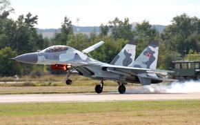 Картинка Су-30, Взлет, многоцелевой истребитель, ВВС России, MKИ