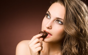 Обои sexy, chocolate, lips