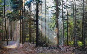 """Картинка масло, картина, холст, художник С.Луценко, """"Забытые тропы"""""""