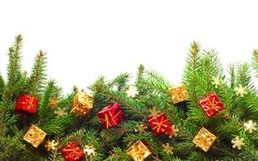 Обои merry, christmas, xmas, decoration, gifts, рождество