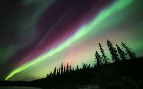 Картинка звезды, ночь, природа, северное сияние, Aurora Borealis