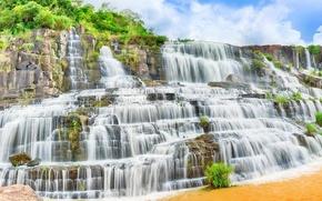 Картинка вода, водопад, поток, water, waterfall, stream