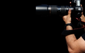 Картинка photographer, zoom, lenses, accessories, arms, photo camera