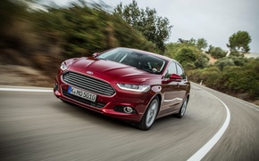 Картинка Ford, red, hatchback, mondeo