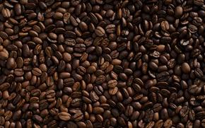 Картинка кофе, зерна, много