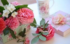 Картинка коробка, подарок, розы, © Elena Di Guardo