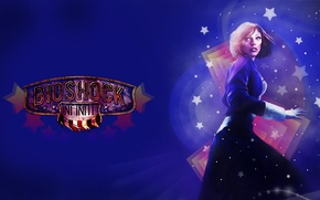 Картинка звезды, синий, Bioshock infinite, Элизабет