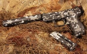 Картинка пистолет, оружие, глушитель, Walther, полуавтоматический, P22