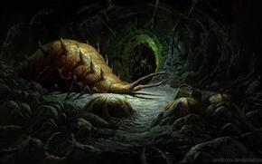 Картинка tunnels, creatures, Diablo 2, worms