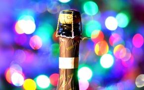 Обои праздник, вино, бутылка