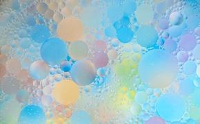 Картинка вода, пузырьки, абстракция, краски, масло, воздух