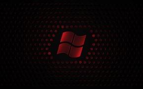 Картинка шарики, красный, логотип, черный фон