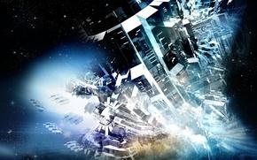 Обои космос, фантазия, механизм