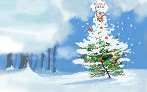 Картинка праздник, Christmas, Please Peace