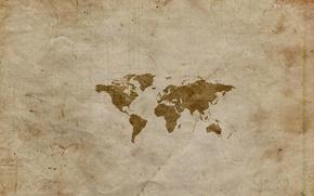 Картинка бумага, мир, карта