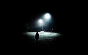 Картинка Мрак, alan wake, девушка в ночи
