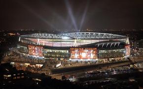 Картинка Arsenal, стадион, футбол, London, Emirates Stadium