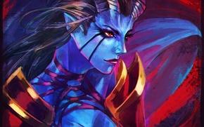 Картинка девушка, лицо, арт, dota, dota 2, akasha, queen of pain